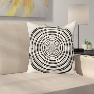 Fabric Abstract Art Spirals Square Pillow Cover Size: 16 x 16