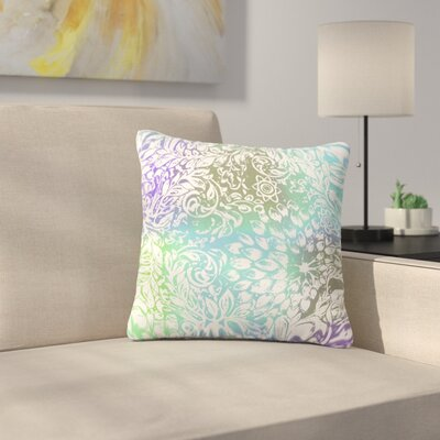 Bloom for You by Vikki Salmela Outdoor Throw Pillow Color: Turquoise/Green