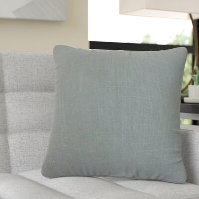 Redfield Solid Linen Throw Pillow Color: Gray