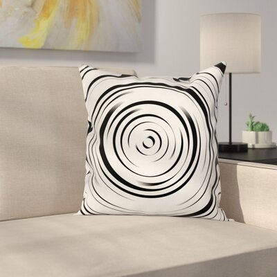 Abstract Art Hypnotic Lines Square Pillow Cover Size: 16 x 16