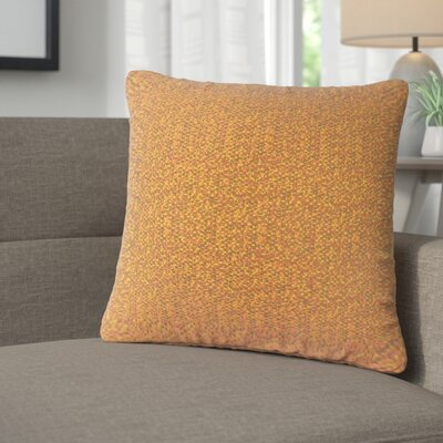 Milania Woven Throw Pillow Color: Tamale