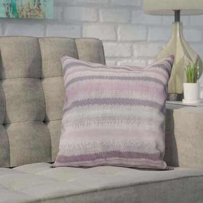 Dorazio Raya De Agua Indoor/Outdoor Throw Pillow Size: 16 H x 16 W, Color: Lavender