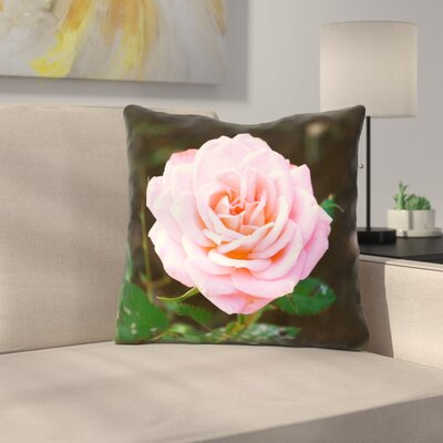 Rose Throw Pillow Size: 14 x 14