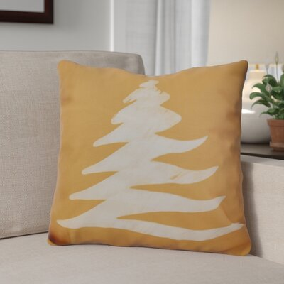 Decorative Holiday Print Throw Pillow Size: 18 H x 18 W, Color: Gold