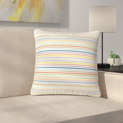 Trebam Pruge Stripes Outdoor Throw Pillow Size: 16 H x 16 W x 5 D