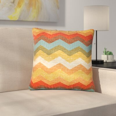 Strother Zigzag Cotton Throw Pillow
