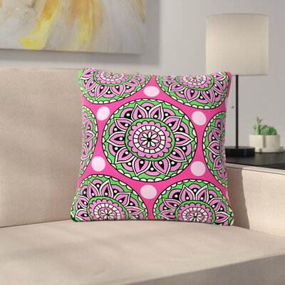 Sarah Oelerich Watermelon Mandala Outdoor Throw Pillow Size: 18 H x 18 W x 5 D