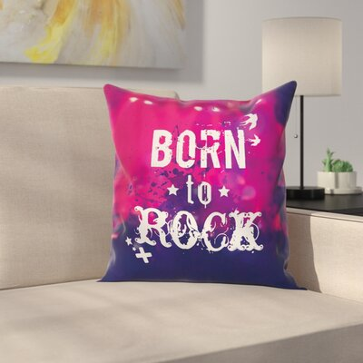 Concert Stage Square Pillow Cover Size: 16 x 16