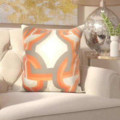 Westerlo 100% Cotton Throw Pillow Color: Persimmon, Size: 18 H x 18 W
