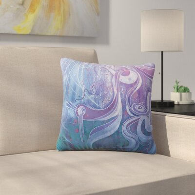 Electric Dreams by Mat Miller Outdoor Throw Pillow Color: Blue