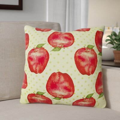 Catherin Apples and Polkadots Outdoor Throw Pillow