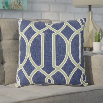 Georgios Intersecting Lines Throw Pillow Size: 22 H x 22 W x 4 D, Color: Peridot / Blue Corn / Peach Cream, Filler: Polyester