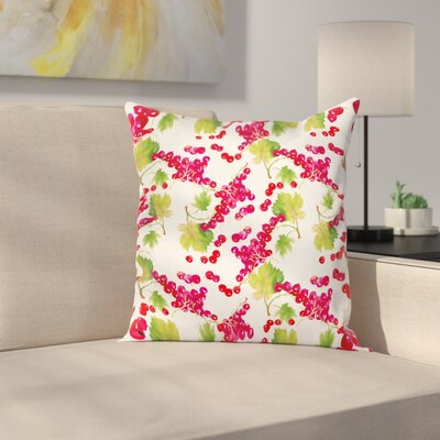 Gardening Plants Square Pillow Cover Size: 18 x 18