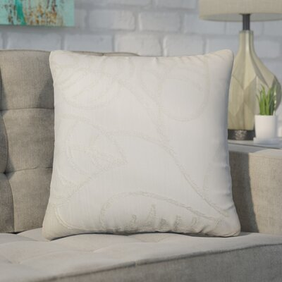 Xenophon Floral Cotton Throw Pillow Color: Pearl
