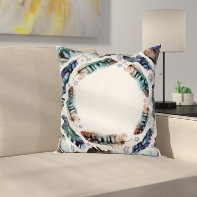 Concentric Case Boho Gypsy Feather Square Pillow Cover Size: 16 x 16