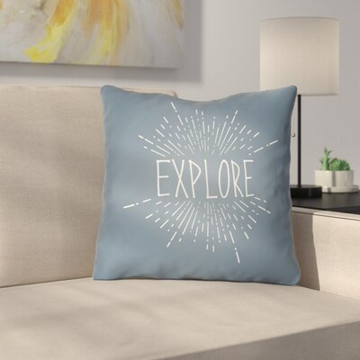 Marina Indoor/Outdoor Throw Pillow Size: 20 H x 20 W x 4 D, Color: Blue