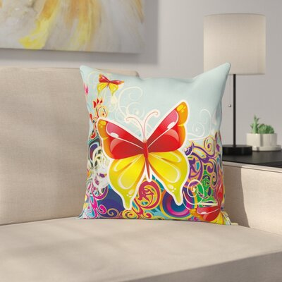 Butterfly Pillow Cover Size: 18 x 18