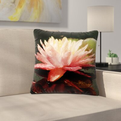 Cyndi Steen Painted Water Lily Floral Outdoor Throw Pillow Size: 18 H x 18 W x 5 D