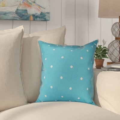 Golden Beach Dorothy Dot Geometric Outdoor Throw Pillow Size: 18 H x 18 W, Color: Turquoise