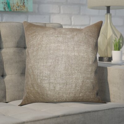 Portsmouth Solid Burlap Throw Pillow Color: Gray, Size: 18 H x 18 W