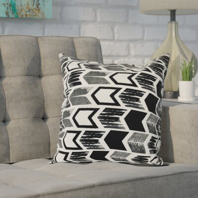 Waller Arrow Geometric Outdoor Throw Pillow Size: 16 H x 16 W, Color: Black