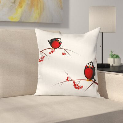 Cute Cartoon Christmas Square Pillow Cover Size: 24 x 24
