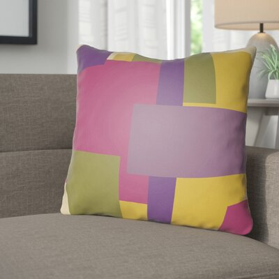 Wakefield Throw Pillow Size: 18 H x 18 W x 4 D, Color: Purple / Olive / Magenta