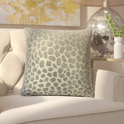 Romina Geometric Throw Pillow Color: Pewter