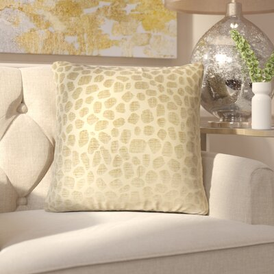 Romina Geometric Throw Pillow Color: Linen