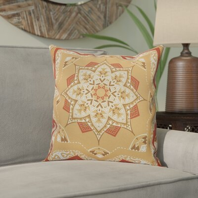 Meetinghouse Shawl Geometric Outdoor Throw Pillow Size: 18 H x 18 W, Color: Gold