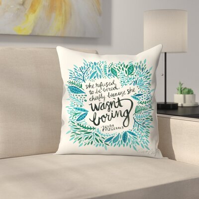 Zelda Fitzgerald Throw Pillow Size: 16 x 16