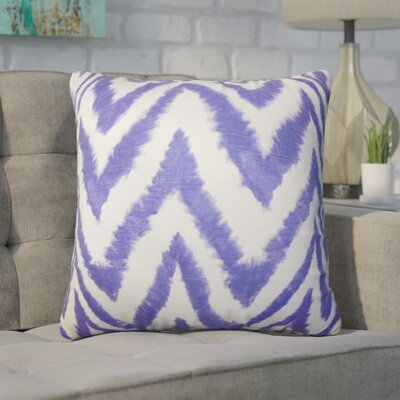Wittrock Zigzag Cotton Throw Pillow Color: Purple