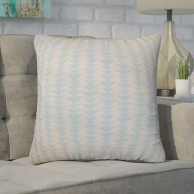 Duerr Geometric Cotton Throw Pillow Cover Size: 20 x 20, Color: Sky Blue