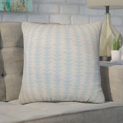 Duerr Geometric Cotton Throw Pillow Cover Size: 18 x 18, Color: Sky Blue