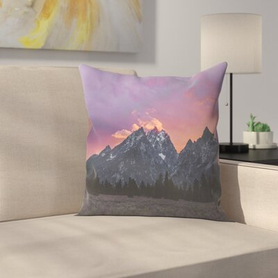 Luke Gram Grand Tetons Wyoming Iv Throw Pillow Size: 14 x 14
