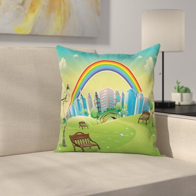 Modern Rainbow Pillow Cover Size: 24 x 24
