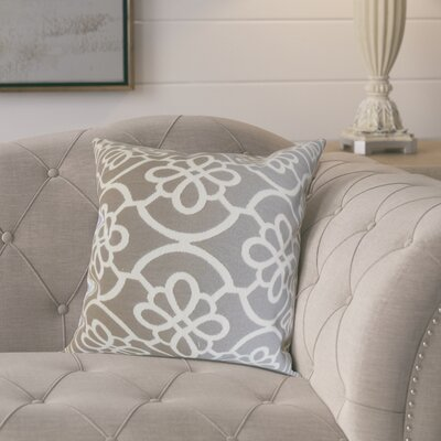 Throw Pillow Color: Dove, Size: 24 x 24