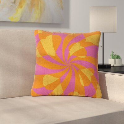 Nacho Filella Heart Explosion Pop Art Outdoor Throw Pillow Size: 16 H x 16 W x 5 D