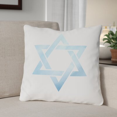 Star of David Throw Pillow Size: 16 x 16