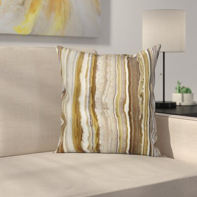 Marble Rock Patterns Square Pillow Cover Size: 18 x 18