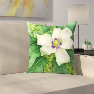 Magnolia Throw Pillow Size: 14 x 14