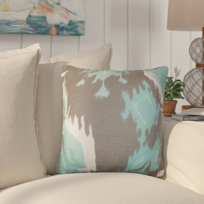 Merganser Ikat Cotton Throw Pillow Color: Gray/Blue