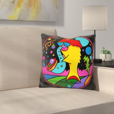 Jazz Fish Throw Pillow