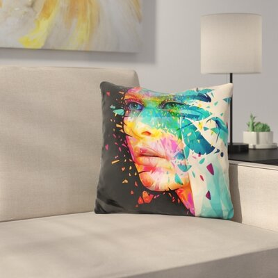 Paintflowers Throw Pillow