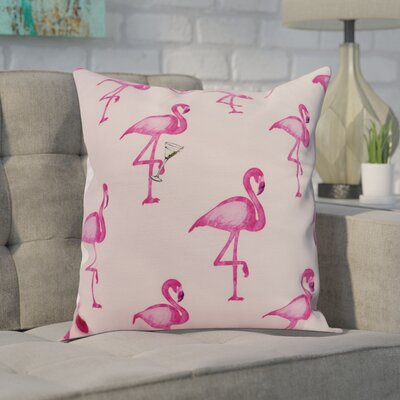 Carmack Print Throw Pillow Color: Pink, Size: 16 x 16