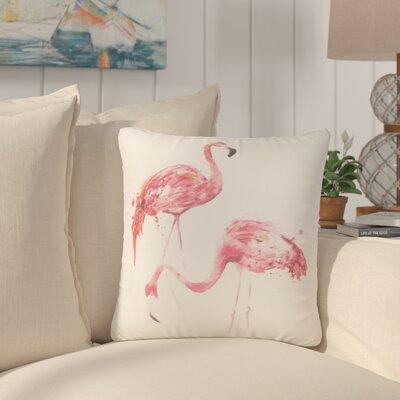 North Bay Flamingo Couple Throw Pillow