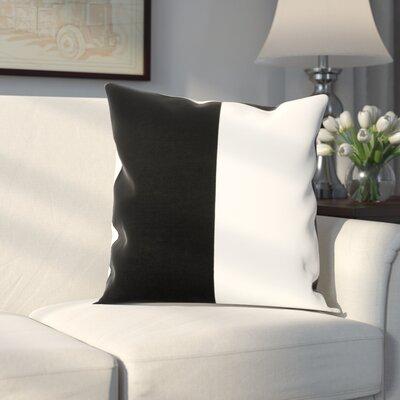 Gabriel Horizontal Stripe 100% Cotton Pillow Cover Color: Onyx Black & OffWhite