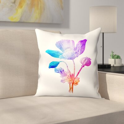 Poppy Seed Flower Throw Pillow Size: 16 x 16