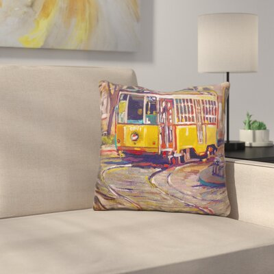 Italian Trolley Throw Pillow
