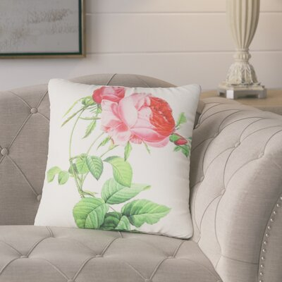 Violette Rose Flower Throw Pillow